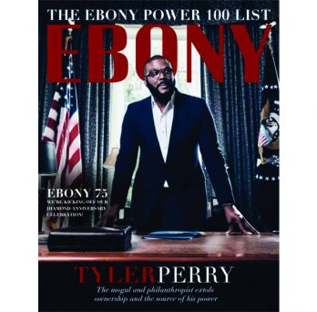 Ebony magazine cover featuring Tyler Perry