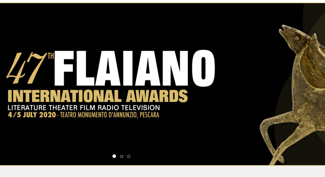TEst: 47th Flaiano International Awards Literature Theater Film Radio Television with golden Pegasus Award Statue